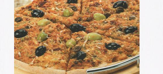 بيتزا بالنخالة