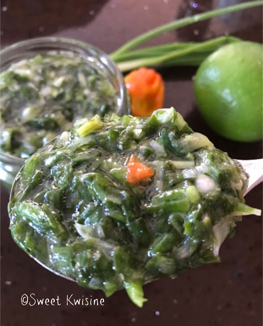 sweet kwisine, oignons-pays, cive, cuisine antillaise, martinique, guadeloupe, jardinage, caribbean food, marinade, seasoning
