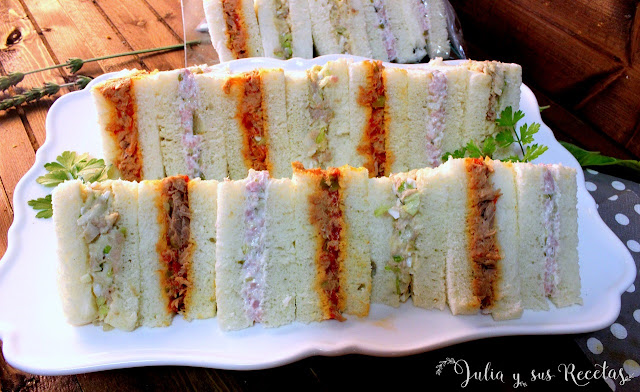 Sándwich tipo rodilla. Julia y sus recetas