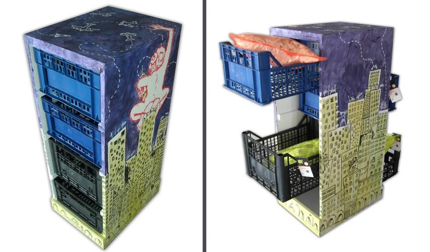 Re use vecchi materiali per nuove forme mobili eco friendly for Materiali per mobili
