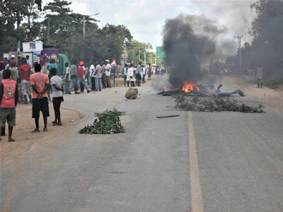 Kilifi protests. PHOTO | File
