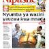 UHONDO: MAGAZETI YA LEO TANZANIA NA NJE MEI 24, 2018