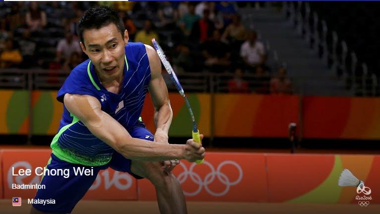 Dato' Lee Chong meraih pingat Perak badminton final perseorangan Rio 2016