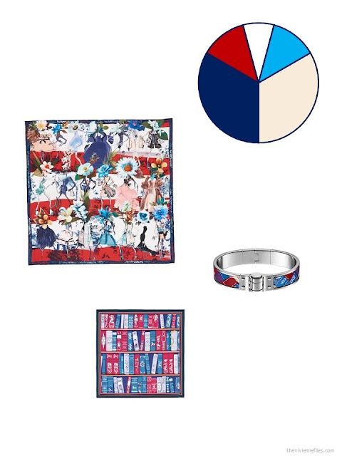 multicolored accessories for a business capsule wardrobe