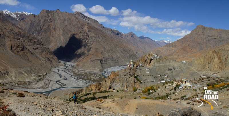 The high village of Dhankar in scenic Spiti valley, Himachal Pradesh, India