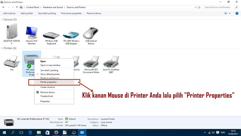 Sharing Printer Ke Komputer Lain di Windows 10