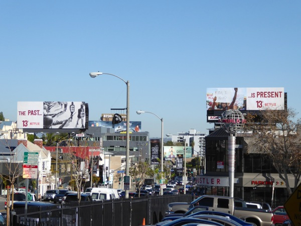 13th The Past is Present Netflix billboards Sunset Strip