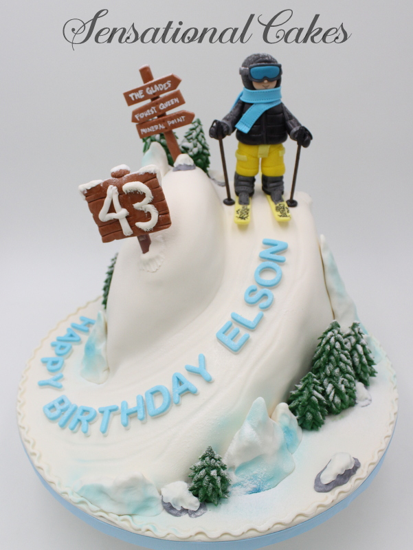 The Sensational Cakes Ice Ski From The Alps 3d Cake Singapore Ice
