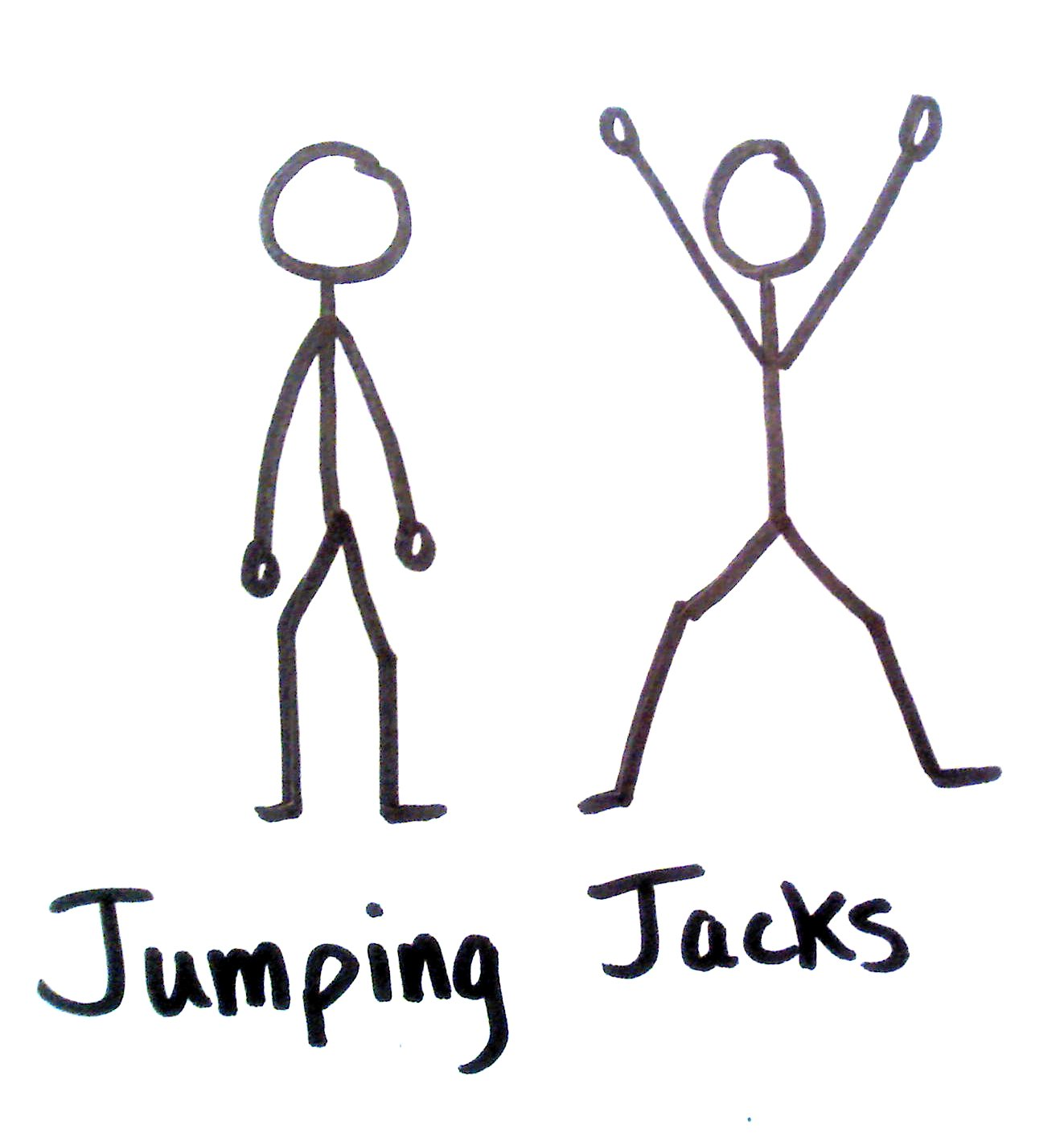 Jumping Jacks Cartoon