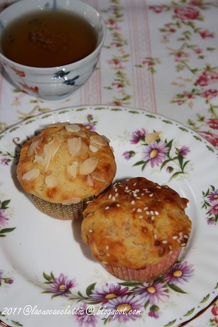 Muffin al formaggio e prosciutto