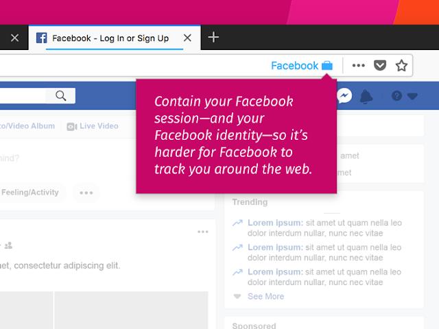 إضافة لمتصفح فايرفوكس تمنع الفيسبوك من تعقب خطواتك