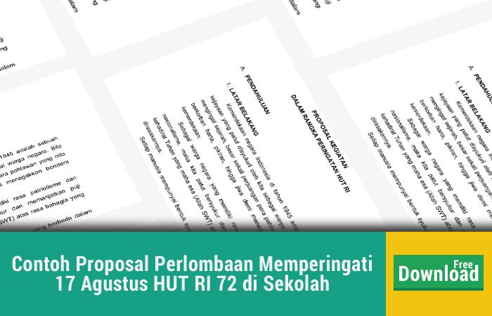 Contoh Proposal Perlombaan 17 Agustus HUT RI 72 di Sekolah PDF