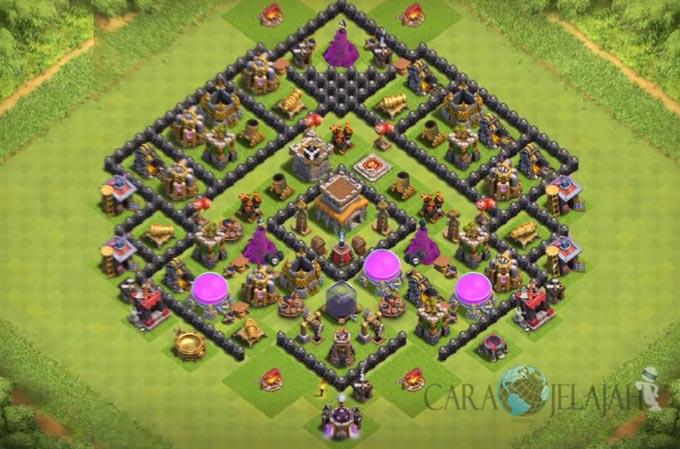 Base Trophy TH 8 di Clash Of Clans Terbaru Tipe 8