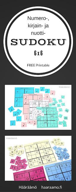 Sudoku 6 x 6 FREE Printable