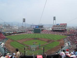 Home to center, Mazda Zoom Zoom Stadium