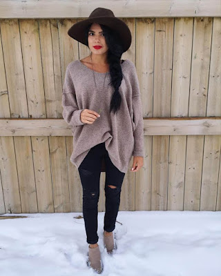 outfit de invierno oversized tumblr