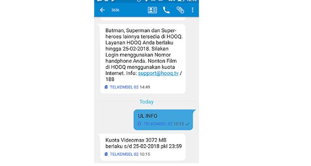 Cek Kuota Internet Telkomsel Melalui SMS