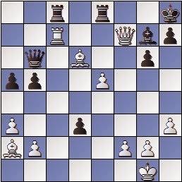 Partida de ajedrez Mora vs. Anguera, posición después de 26. Tc7, Campeonato de España por equipos Sevilla 1969