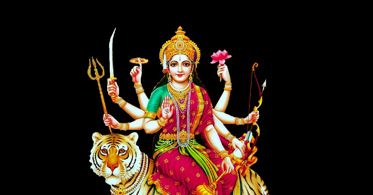 Indian goddess Durga Matha Png Image for Banner Desing
