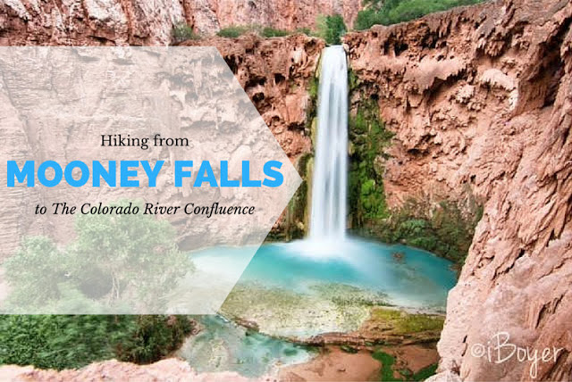 Hiking to Havasu Falls, Hiking to Mooney Falls and the Colorado River Confluence