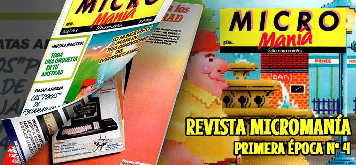 Revista Micromanía Primera época Número 4 1985