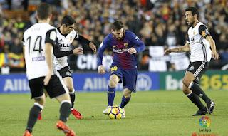 Barcelona vs Valencia Live Streaming online Today 7-10-2018