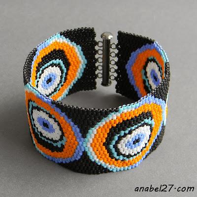 Ручная работа купить широкий бисерный браслет украина