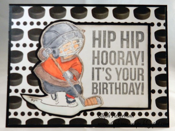 The Rubber Buggy Hockey Birthday Card