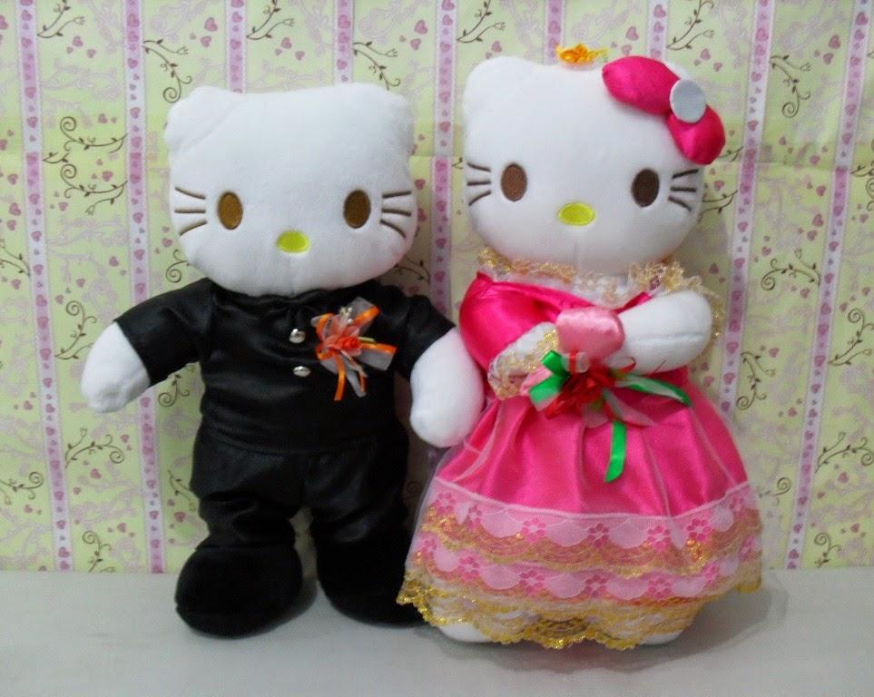 Gambar boneka hello kitty berpasangan lucu untuk anak