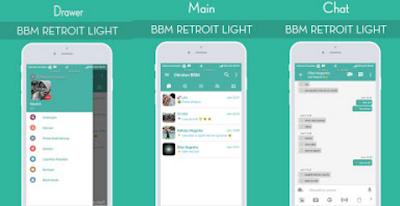 BBM Mod Retroit Light Apk [BBM Green] Terbaru