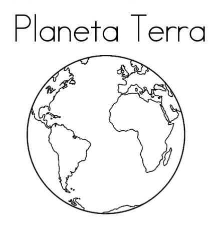 Blog De Geografia Planeta Terra Desenho Para Imprimir E Colorir