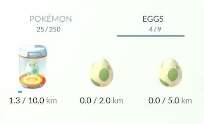 Isi Pokemon Dalam Telur 2KM, 5KM dan 10KM