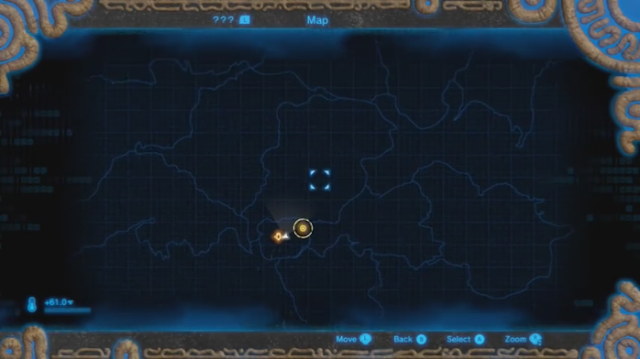 The Legend of Zelda Breath of the Wild GamePad map size massive overworld