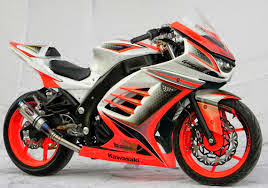 modifikasi kawasaki ninja full fairing