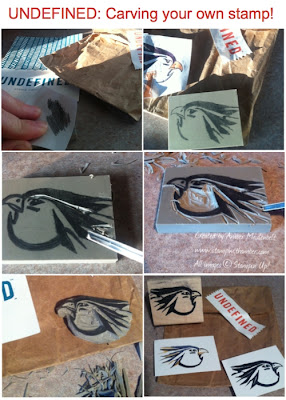 Undefined tutorial: Warhawk stamp carving