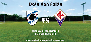 Data dan Fakta Liga Fantasia Serie A Sampdoria vs Fiorentina Fantasi Manager Indonesia