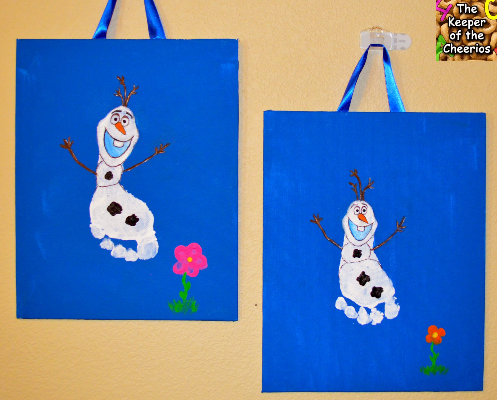 Christmas Crafts Preschool With Footprints