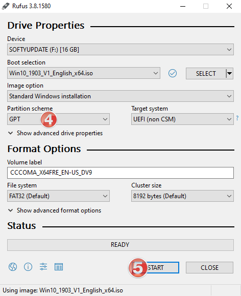 How to use the Rufus to create bootable USB