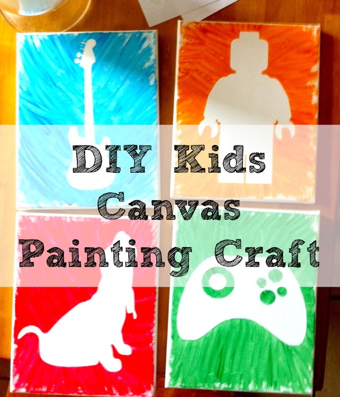My Life Homemade Diy Kids Canvas Painting Craft
