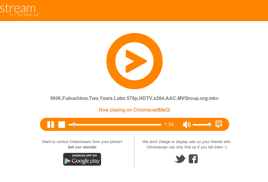 how to read mkv with chromecast
