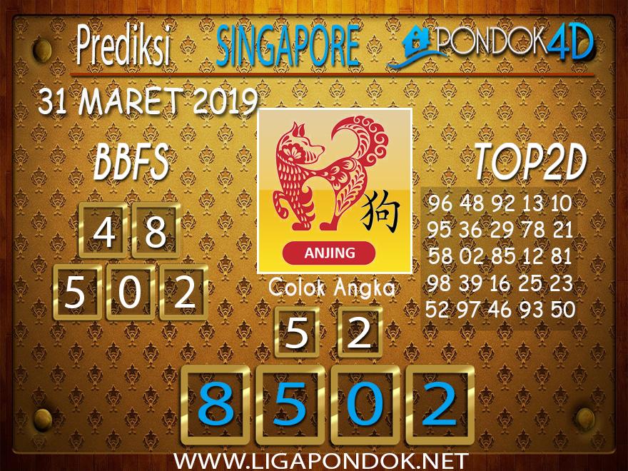 Prediksi Togel SINGAPORE PONDOK4D 31 MARET 2019