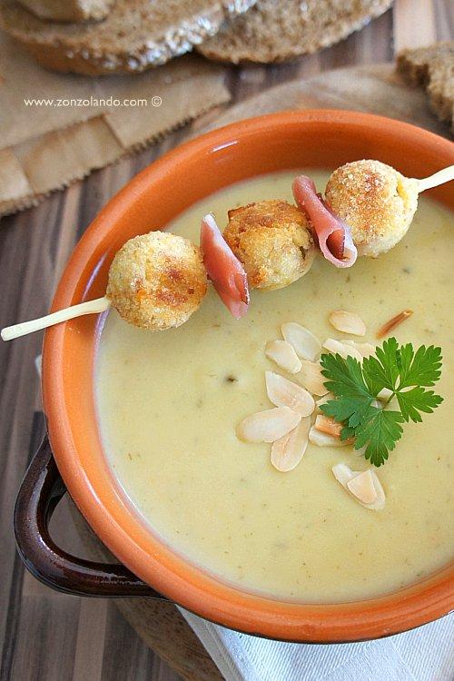Crema vellutata di patate all'aglio orsino. Come utilizzare l'aglio orsino in cucina ricette - Wild garlic soup recipe