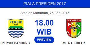 Prediksi Persib Bandung vs Mitra Kukar Sabtu 25 Februari 2017