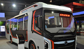Environment friendly electric bus runs in Indore