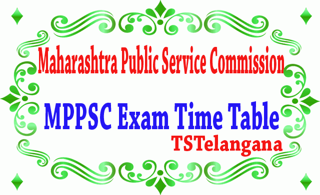 MPPSC Exam Time Table