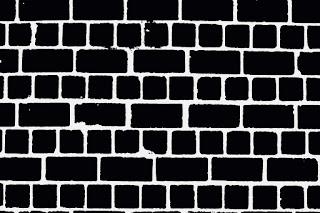 muro preto e branco