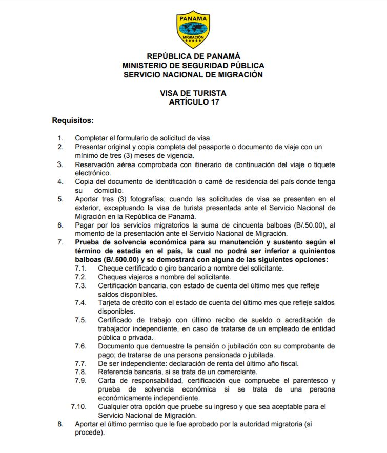 Requisitos para la visa de Panama. Solicitud y requisitos para la visa panameña. Requisitos para los venezolanos visa Panama