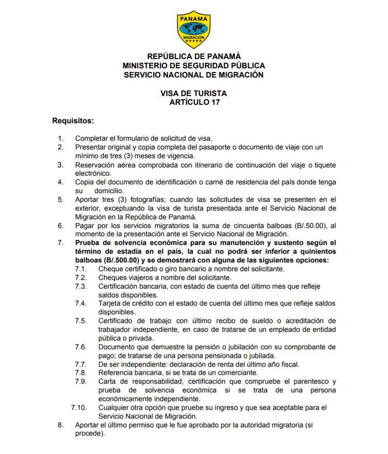 Requisitos para la visa de Panama. Solicitud y requisitos para la visa panameña. Requisitos para los venezolanos visa Panama