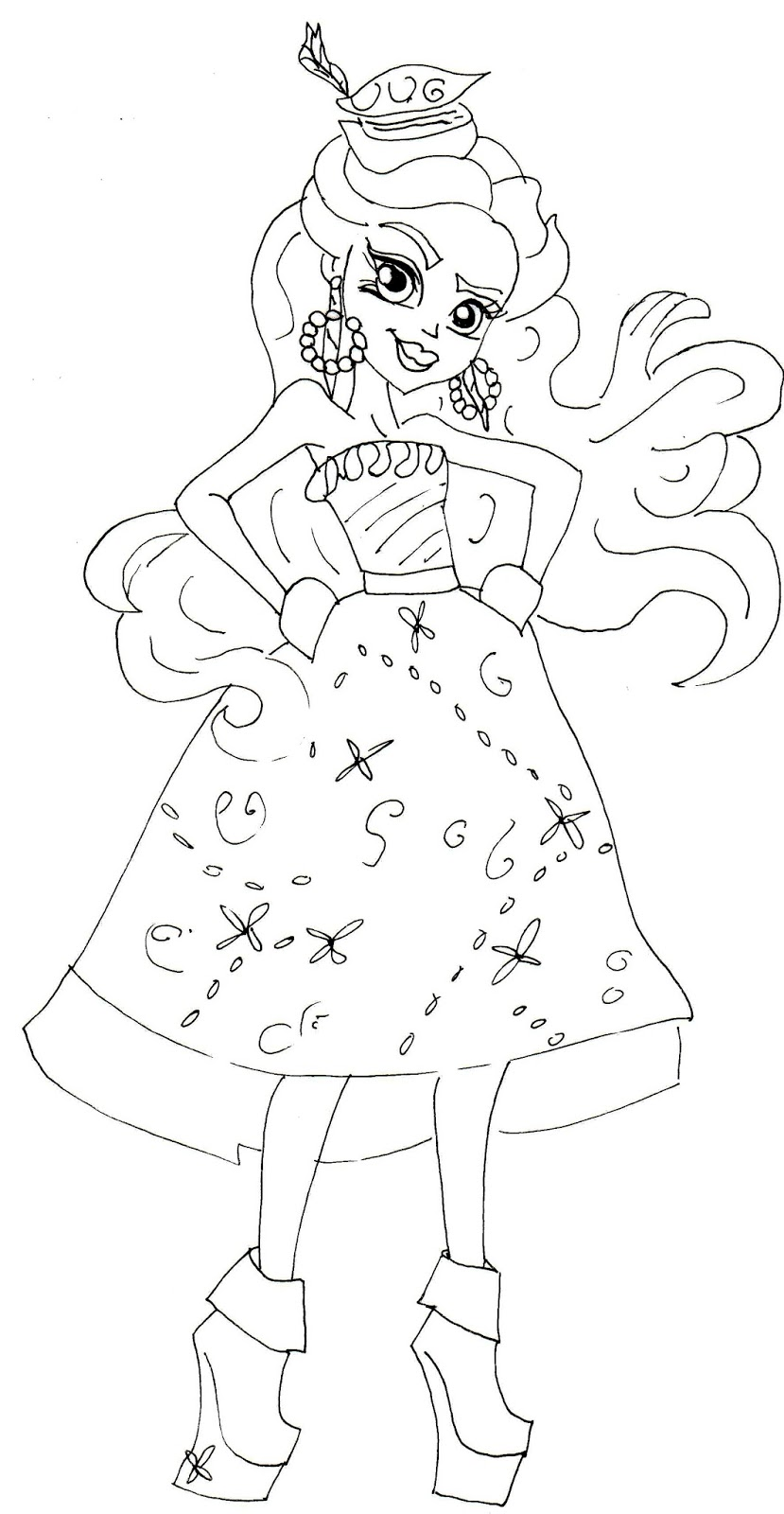 Free Printable Monster High Coloring Pages: Dayna Treasura