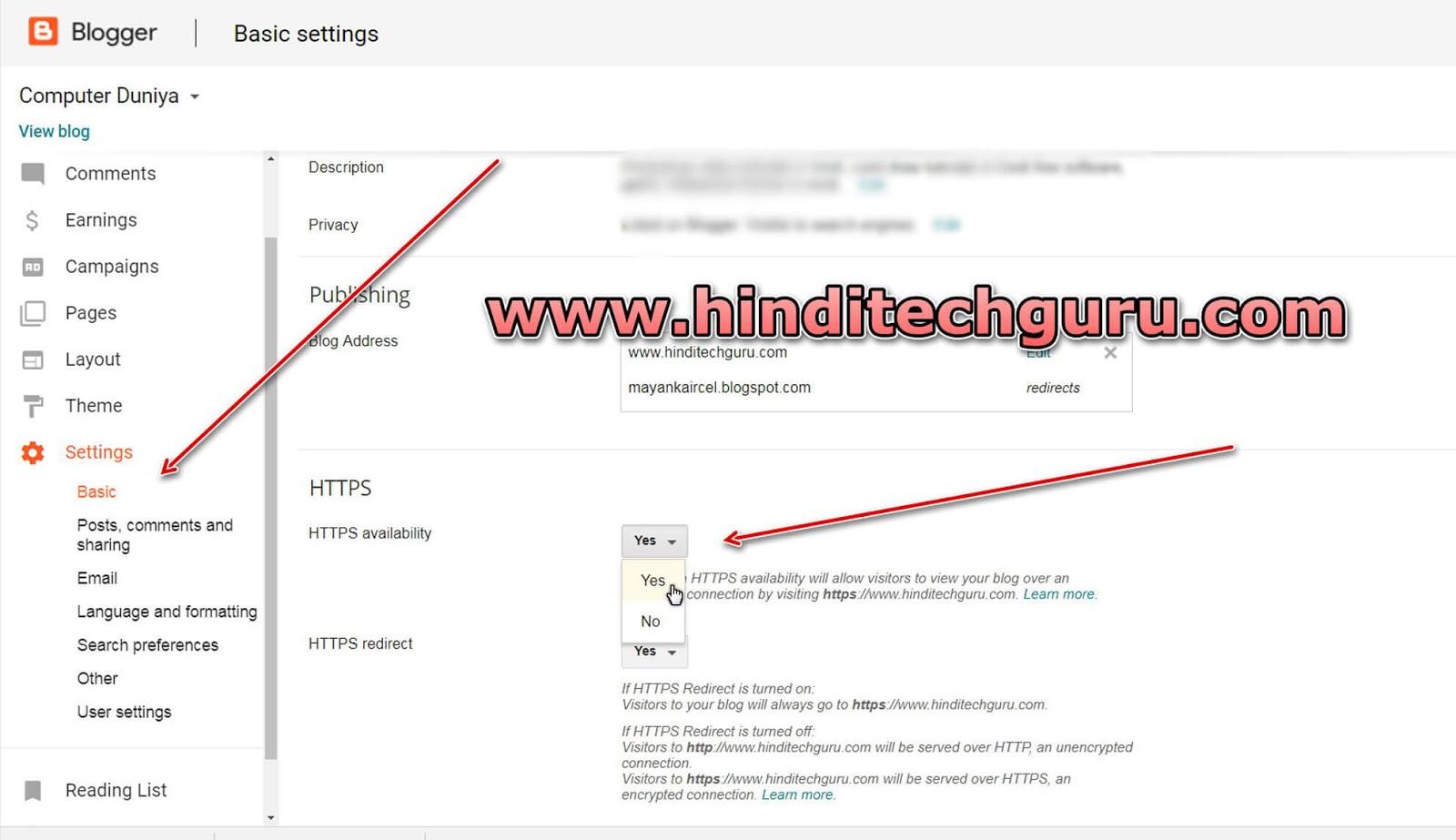 Blogger Custom Domain Par Https Ssl Certificate Setup Kaise Kare